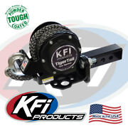 Kfi Tigertail Tow System Atv Utv 2 Receiver Hitch Mount Retractable W/ 12' Rope