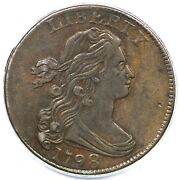 1798 S-166 Pcgs Xf 40 2nd Hair Style Draped Bust Large Cent Coin 1c