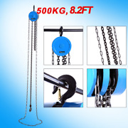 500kg 2.5m Chain Hoist Block Tackle Hand Manual Engine Lift Puller Fall Tool