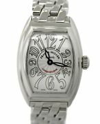 Franck Muller Conquistador 8005 Lqz Stainless Steel Watch With Box Papers
