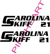 2-carolina Skiff 21 Decal Stickers Graphic Logo Decal Flats Boat Decals Vinyl
