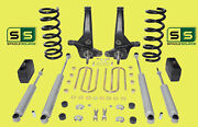 01-10 Ford Ranger 2wd 6/4 Lift Kit 6 Cyl Spindles/coil Springs/blocks/4 Shock