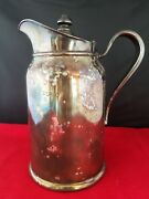 Vintage Reed And Barton Silver Soldered Insulate Jug Pitcher 30 2p 398 4.5 D 8h