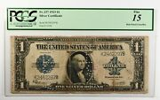 Rare 1923 1 Large Silver Certificate Fine 15 Pcgs Punch Cancelled Fr. 237