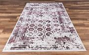Serene Vintage Distressed Look High Quality Fashion Forward Pattern Red Area Rug
