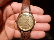 Vintage Caravelle W Box By Bulova- Men's Two Tone Gold Face Watch. Works.