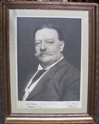 Enormous William Howard Taft Signed Photograph As President