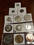 Mix Lot Rare Collectiblecoins.999 Silver Copper 1917 Dime 1972 Ike 1wood Nickle