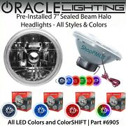 Oracle Pre-installed 7 Sealed Beam Led Halo Headlights - All Colors - 6905