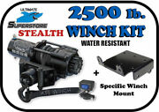 Kfi 2500lb Stealth Winch Mount Kit And03907-and03915 Yamaha Grizzly 550 700 Synthetic