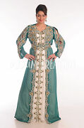 Ancient Arabic Dress Cocktail Party Gown Traditional Ladies Kaftan Robe 4871