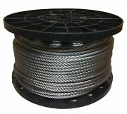 1/4 Stainless Steel Aircraft Cable Wire Rope 7x19 Type 304 2500 Feet