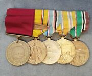 Wwii U.s.navy Good Conduct American Defense Fleet And 3 Service Medals Grouping