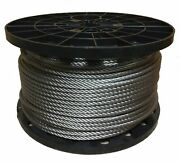 5/16 Stainless Steel Aircraft Cable Wire Rope 7x19 Type 304 1500 Feet