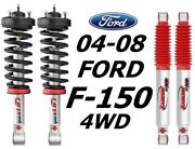 Rancho Front Quicklift Struts And Rs9000xl Rear Shocks For 04-08 Ford F-150 4wd