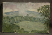 Dines Carlsen Antique American Oil Painting Impresionistic Mexican Mountain