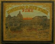 Yonkers And New York Fire Insurance Company Agency Sign Late 19th Century