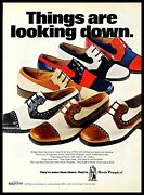 1972 Wolverine World Wide Hush Puppies Shoes Vintage Print Ad Boots Footwear