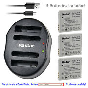 Kastar Battery Dual Charger For Canon Nb-4l Nb-4lh Powershot Sd1100 Is Sd1400 Is