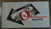 Original Vintage Offenhauser Water Decal Hot Rod Auto Racing Indy Race Car Offy