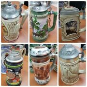 Lot 6 Anheuser-busch Heritage Beer Steins Over 2000 Must Go