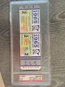 """1965 World Series Full Ticket With """"void"""" Stamp Psa 9"""