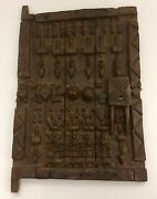 Bombara Bamana Wood Tribal Door W/soldiers West African Tribe Art Antique 1950s