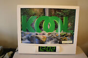 Vintage Kool Cigarette Tobacco Lighted Advertising Sign W/ Waterfall Motion