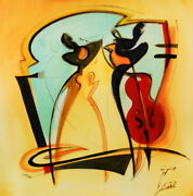 Swinging By Alfred Gockel Fine Art On Canvas Abstract Art Contemporary