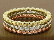 R255 Genuine 10k 14k Or 18k Yellow White Or Rose Gold Stackable Bubbles Ring