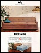 1963 Simmons Hide-a-bed Sofa Vintage Print Ad Convertible Furniture Home Decor