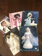Vtg 1990and039s 1800and039s Replica Crochet Doll Dress Hat Umbrella Parasol Boots Pattern