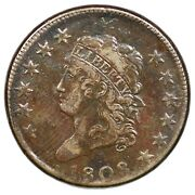 1808 S-277 R-2 Classic Head Large Cent Coin 1c