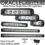 Oracle Sleek Series Single Row Led Off Road Light Bars - 5 To 44 And 20w To 260w