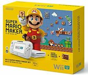 Nintendo Wii U Game Console With Super Mario Maker Set White 8gb Video Game Syst
