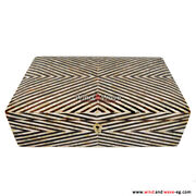 Jewelry Box Pure Mother Of Pearl / Egyptian Decorative Mosaic Box