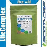 Empty Gelatin Capsules Size 00 Clear Self Fill 100 200 500 1000 2000 5000