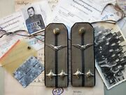 Rare Wwii Serbian Army Shoulder Board For A Pilot Lieutenant With Documentation