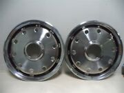Nos 1988-1991 Chevrolet Gmc 15 4 Wd Front Full Wheel Covers 10 Hole Style Pair