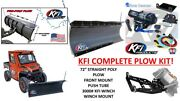 Kfi Polaris And03913-and03918 Ranger 900 Snow Plow Complete Kit 72 Poly Straight Blade