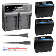 Kastar Battery Rapid Charger For Sony Np-f970pro Sony Gv-d800 Gv-d900 Gv-hd700e