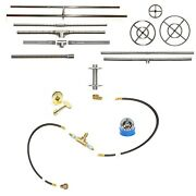 Easyfirepits Pre-plumbed Gas Fire Pit Kit And Lifetime Warr 316 Stainless Burner