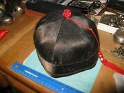 Chinese Qing Dynasty Mandarin Officer Hat Size 7 3/8