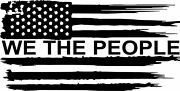 American Flag We The People Tattered Vinyl Decal Sticker Car Truck Window