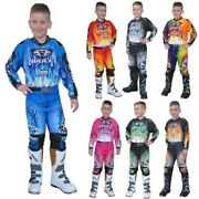 Wulfsport Cub Youth Kids 2018 Race Off Road Trial Atv Bmx Enduro Suit Shirt Pant