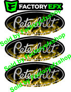 3 Gold Peterbilt Flame Grille And Hood Decal Emblems Flames 359 379 378 353 377