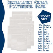 Small Grip Seal Zip Lock Polythene Self Resealable Clear Plastic Bags 1 -100000