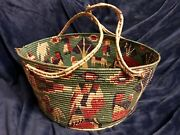 Retro Vintage Large Southwestern Handcrafted Coiled Basket 18andrdquo