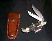 Schrade Walden 227uh Knife And Sheath 1970's Serial 52290 Uncle Henry Bowie Rare