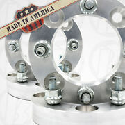 4 Usa Made   Atv 1 Wheel Adapters Spacers   4x110 To 4x156   3/8 Studs And Nuts